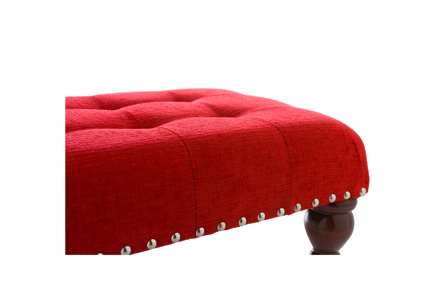 Large Buttoned Footstool New Designer Chesterfield Stool