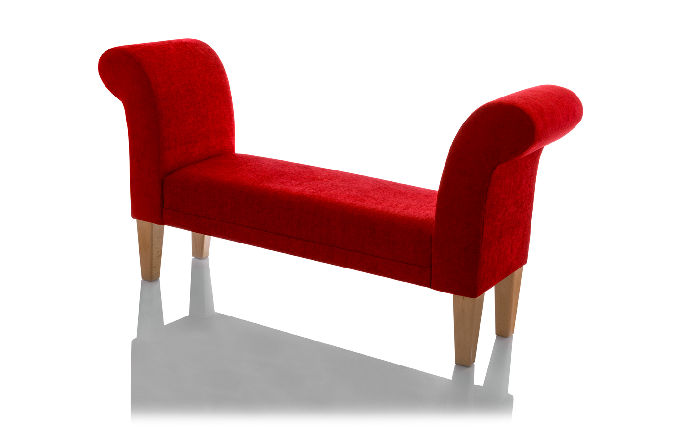 wunderley silver bench with red leather traditional. red bedroom ...